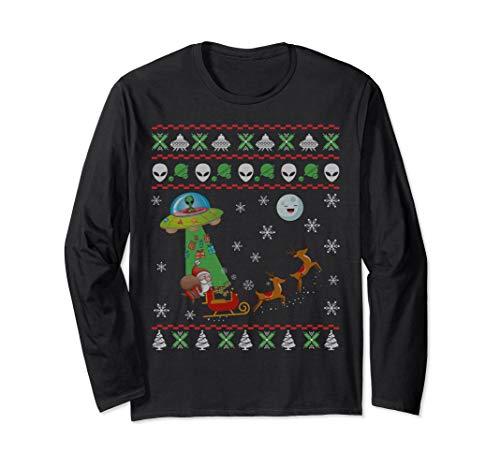Alien And Santa Ugly Christmas Sweatshirt