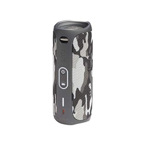 JBL FLIP 5 Portable Speaker IPX7 Waterproof Bundle with gSport Limited Edition Carbon Fiber Case (Black Camo)