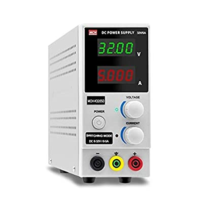 XIAOF-FEN High Precision 32V 5A DC Power Supply Adjustable 160W Large Power Mobile Phone Repair Power Supply Home Improvement Electrical