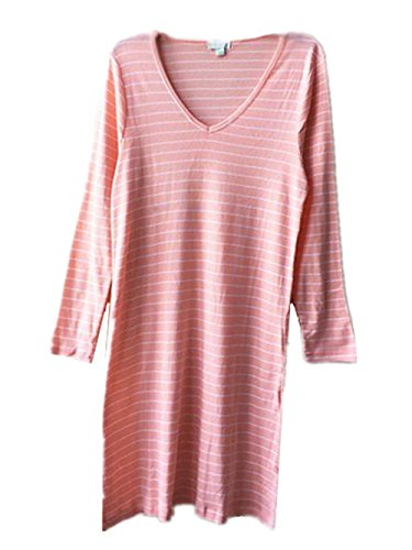 Notte da Collo Orange1 Lunga Sciolto Vestito Vestito Comoda BESTHOO da Sleepwear Abito Femminili Donna Notte Camicia da Morbidi Manica da Rotondo Pigiama Notte zcOcaB