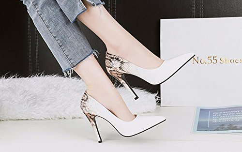 Shoes New Heels KPHY Heels High Thin Sharp Fine Summer 10Cm White Women'S Snakes Shoes And Spring Single Sexy Shallow q8w8t7f