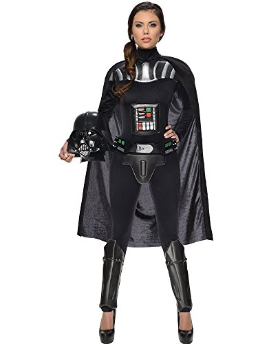 Rubie's Star Wars Darth Vader Woman's Deluxe Costume Jumpsuit, Multicolor S -