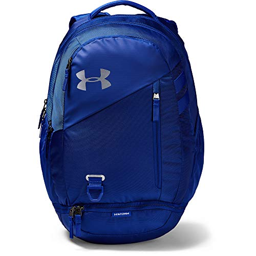 Under Armour unisex-adult Hustle 4.0 Backpack, Royal (400)/Silver, One Size Fits -