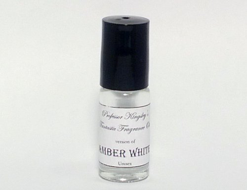 Amber White. Concentrated Unisex Fragrance Oil. (1/6 oz Concentrated Roll On) (Oil Perfume Unisex)