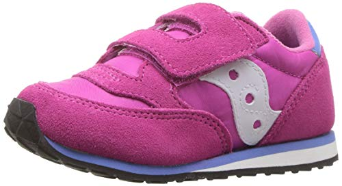 Saucony Girls' Baby Jazz HL Sneaker, Magenta, 10 Medium US Toddler -
