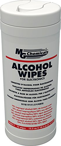 MG Chemicals Alcohol Wipes (70% IPA), 7