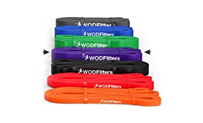 WODFitters Pull Up Assistance Bands - Stretch Resistance Band - Mobility Band - Powerlifting Bands, Durable Workout/Exercise Bands - Single Band