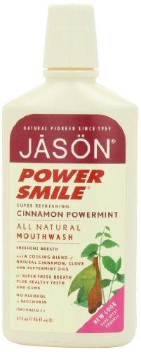 JASON Powersmile cannelle Powermint rince-bouche, 16 onces Bouteille