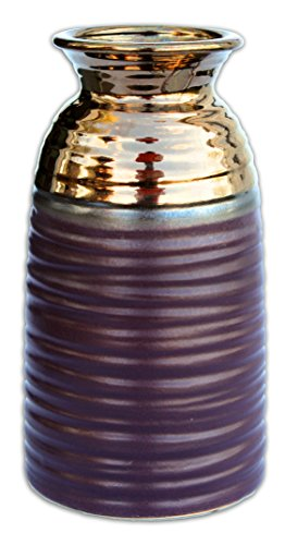MayRich 9'' Matte Purple and Metallic Bronze Porcelain -