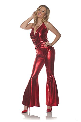 Underwraps Women's 1970s Disco Costume Set-Ladies Night, Red, (Shoes From The 70s)