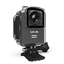 SJCAM M20 WiFi Sports Action Camera (Black), 4K 1080P, Waterproof 30M, Gyro Stabilization, 166-Degree Wide-Angle, Camcorder Video DV Car DVR FPV