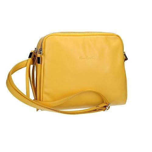 5a4c27c50c8 Lovely Bolsa mujer de hombro PIERRE CARDIN amarillo en cuero Made in Italy  VN1535