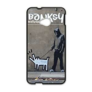 Personalised Phone case banksy For HTC One M7 S1T3254