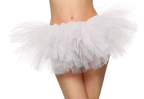 5 Layers Organza Ballet Tutu Bustle Costume Dance Ballerina Skirt, (Costumes And Corsets)