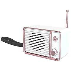 NOMENI Portable Bluetooth Speaker Multi-Functional Vintage Retro Fashion Style Bluetooth 4.1 Wireless Speaker with FM Radio Alarm Clock AUX Input Support