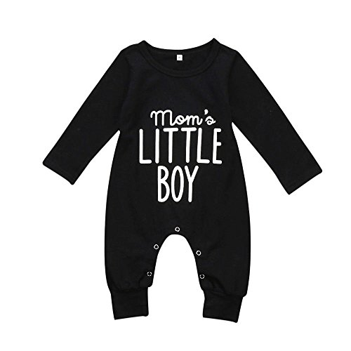 Aliven Newborn Infant Baby Boy Long Sleeve Bodysuit Romper Jumpsuit Outfits Clothes Clothing