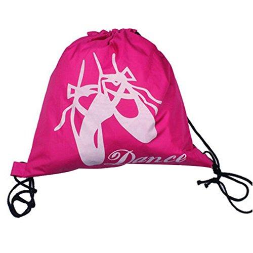 George Jimmy Kids Ballet Bag Dance Bags Travel Backpack School Bags Girls Backpacks Rose Red by George Jimmy