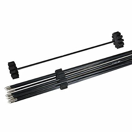 Huntingdoor Back Quiver Archery Arrow Tube Carrier with EVA Foam Arrows Rack Separator Arrow Shoulder Hold 12pcs Arrows