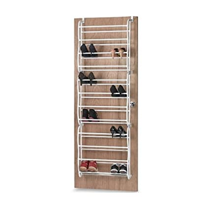 Behind Door Shoe Storage.Buy 36 Pair Over The Door Shoe Organizer By Mighty Shoes