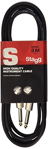 (Stagg 10ft. S-Series, phone-plug/phone-plug, deluxe Instrument cable)