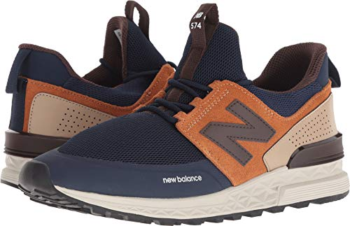New Balance Men's 574 Sport Sneaker, Pigment with Canyon - 10 D(M) US (Mens Pigment)