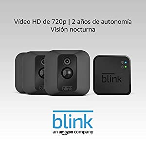 Blink XT Sistema de cámaras de seguridad con detección de movimiento, instalación en paredes, vídeo HD, 2 años de autonomía y almacenamiento en el Cloud - 3 cámaras
