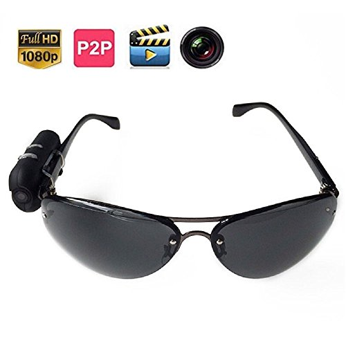 Jiusion Sunglasses HD 1920 x 1080 Surveillance Hidden Camera with Photographing, Video Recording - Camera Sunglasses Hd