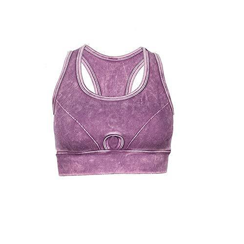 Yoga Choques Push Deportivo Shuchangle Sujetador De Retro Up A Mujeres Estilo Prueba Transpirable Morado xF6xwnq