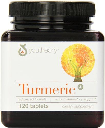 Youtheory Куркума усовершенствованная формула Таблетки, 120 Граф