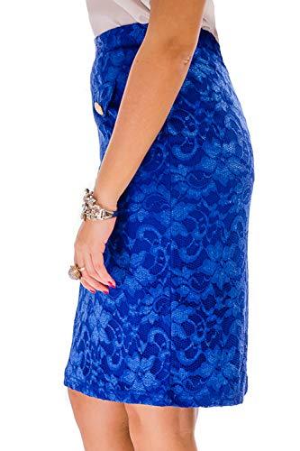 Real Azul Mujer Cvb Para Falda OqRAwA1