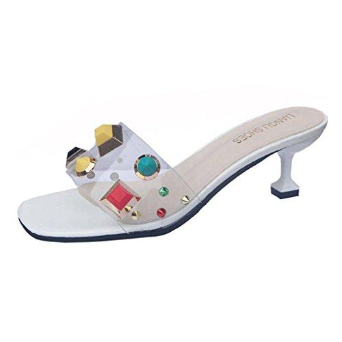 GIY Women Open Toe Slides Kitten Heels Slippers Backless Dress Sandals Pumps Stiletto Shoes (Kitten Mule)