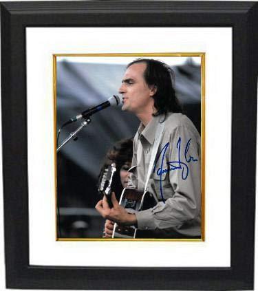 James Taylor signed 8x10 Photo Custom Framing - Hologram - JSA Certified
