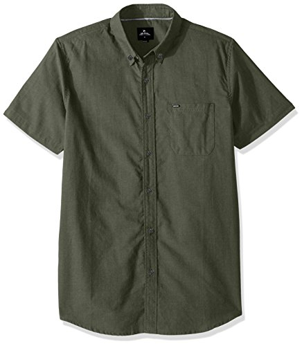 Rip Curl Mens Ourtime S S Shirt  Green Green  S