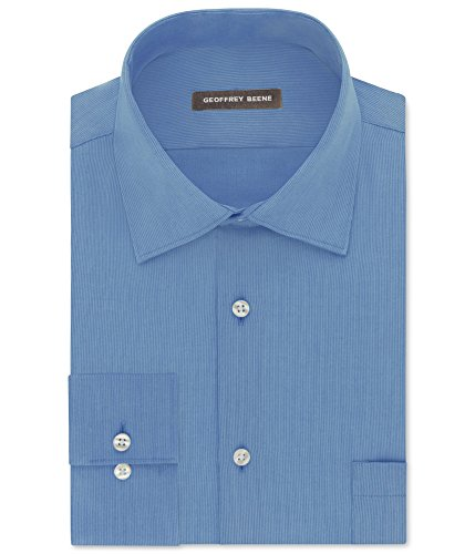 Geoffrey Beene Mens Wrinkle Free Button up Dress Shirt cameoblue 16 1/2