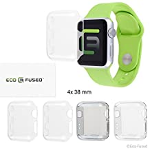 Hard Case Cover Screen Protector for Apple Watch 2 (38mm) - 4 pack - Transparent - Protects Your Apple Watch Series 2 Against Bumps and Scratches - Crystal Clear Protective Shield
