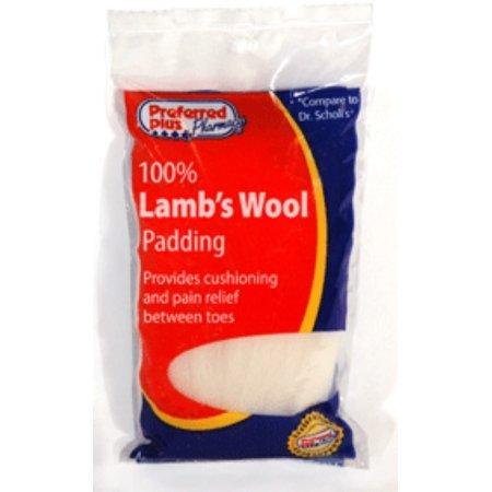 Lambs Wool 3/8 oz (Pack of 4) by Preffered Plus