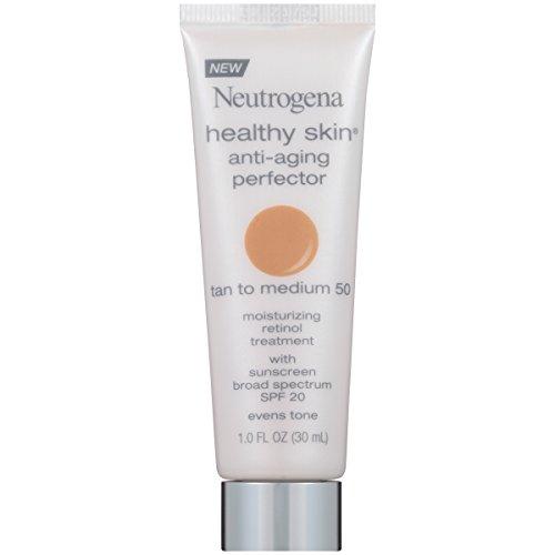 Neutrogena Healthy Skin Anti-Aging Perfector Spf 20, Retinol Treatment, 50 Tan To Medium, 1 Fl. (Anti Aging Tinted Moisturizer)