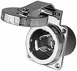 (Hubbell HBL504SS SS Inlet 50A 125/250V)