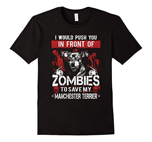 Mens Manchester Terrier Lover T-shirt - Halloween Gift Medium Black