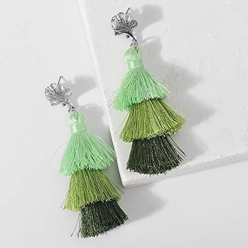 Injoy Jewelry Tassel Earrings Handmade Tiered Thread Tassel Dangle Earrings Bohemia Style Drop Earrings Gift for Women Girls