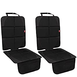 MORROLS Car Seat Protector for Child Seats, Baby Car Seat Protector with Mesh Pockets, Protect Vehicle Upholstery from Stains Damage, Universal Size – Waterproof Non-Slip – Durable (Black, 2-Pack)