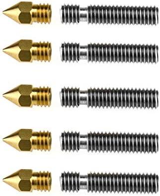 5 x 3D M6X26 mm impresora PTFE teflón Boquilla Cuello Tube+ ...