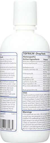 Topricin Pain Relief Therapy Cream (8 oz) Fast Acting Pain Relieving Rub for Back & Neck Aches, Fibromyalgia, Sciatica, Plantar Fasciitis, Sore Muscles & Joints, Carpal Tunnel, Chronic Pain