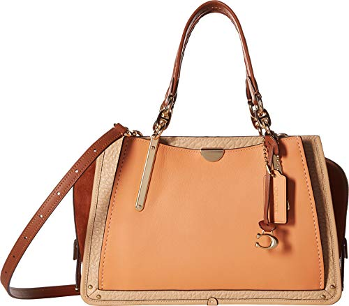 COACH Women's Dreamer in Color Block Leather Sunrise Multi/Gold One Size -