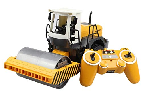 RC Truck Road Roller 2.4G Remote Control Single Drum Vibrate 2 Wheel Drive Engineer Electronic Truck Model Hobby Toys -