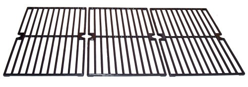 Music City Metals Gloss Cast Iron Cooking Grid Replacement for Select Brinkmann and Charmglow Gas Grill Models, Set of 3