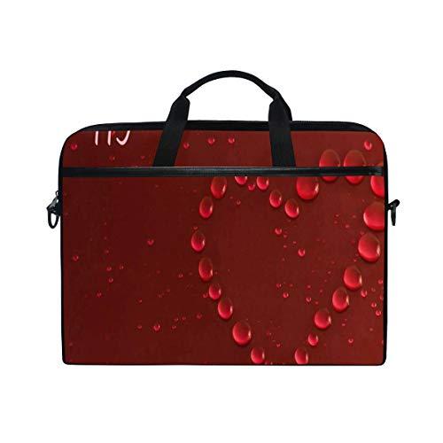 (Water Droplets 2019 Happy New Year 14-15 inch Laptop Case Computer Shoulder Bag Notebook Tablet Crossbody Briefcase Messenger Sleeve Handbag with Shoulder Strap Handle for Women Men Girls Boys)