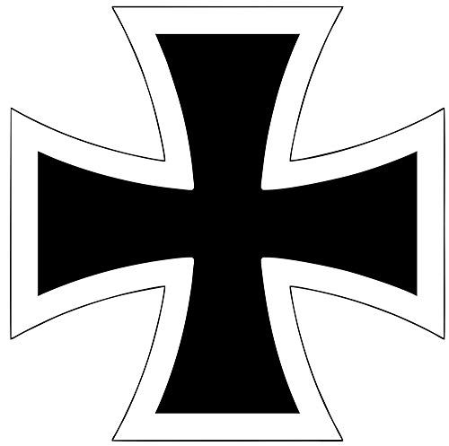 Yilooom German Iron Cross Sticker Maltese Knights Choppers Car Window Decal 4 X 4