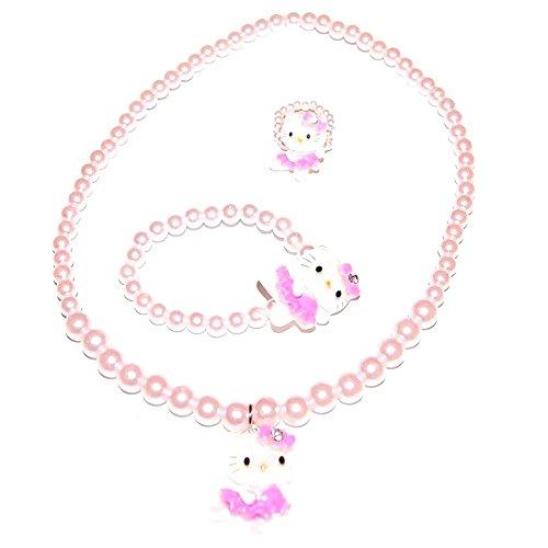 Bijoux Kids - Bijoux Enfant Hello Kitty Ensemble Collier Bracelet Bague