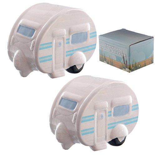 (Ceramic Caravan Salt And Pepper Set By Giftbrit)